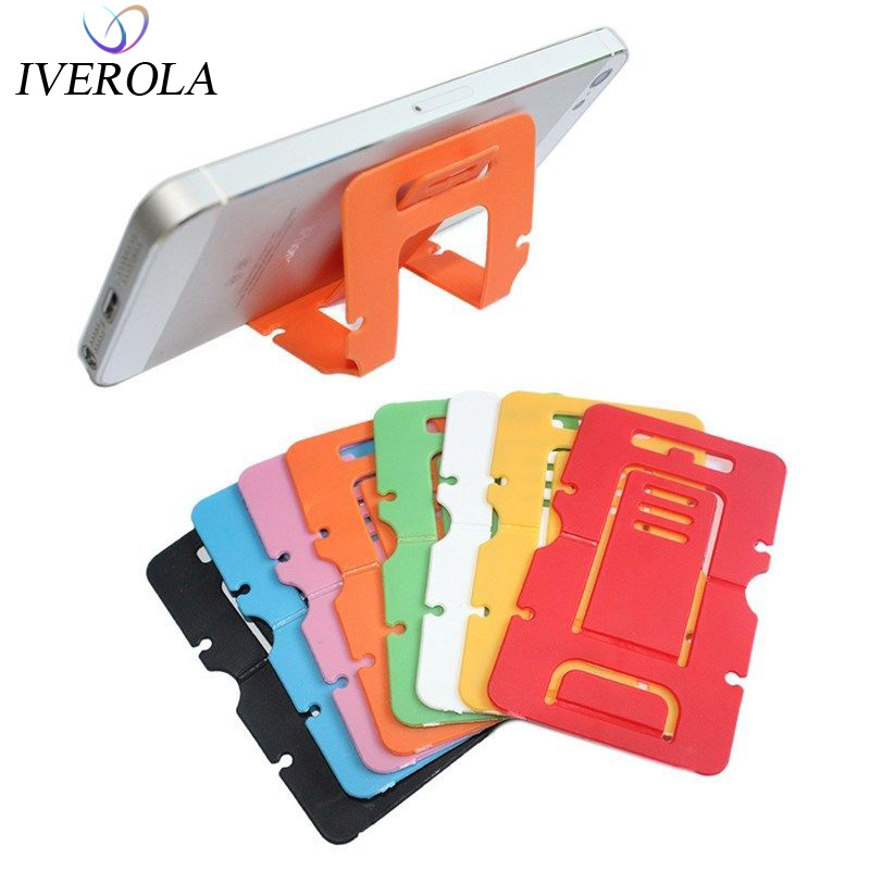 Universal Cute Portable Phone Stand Mini Adjustable Foldable Card Wallet Cell Phone Desk Stand Holder For IPhone X 8 Samsung S9