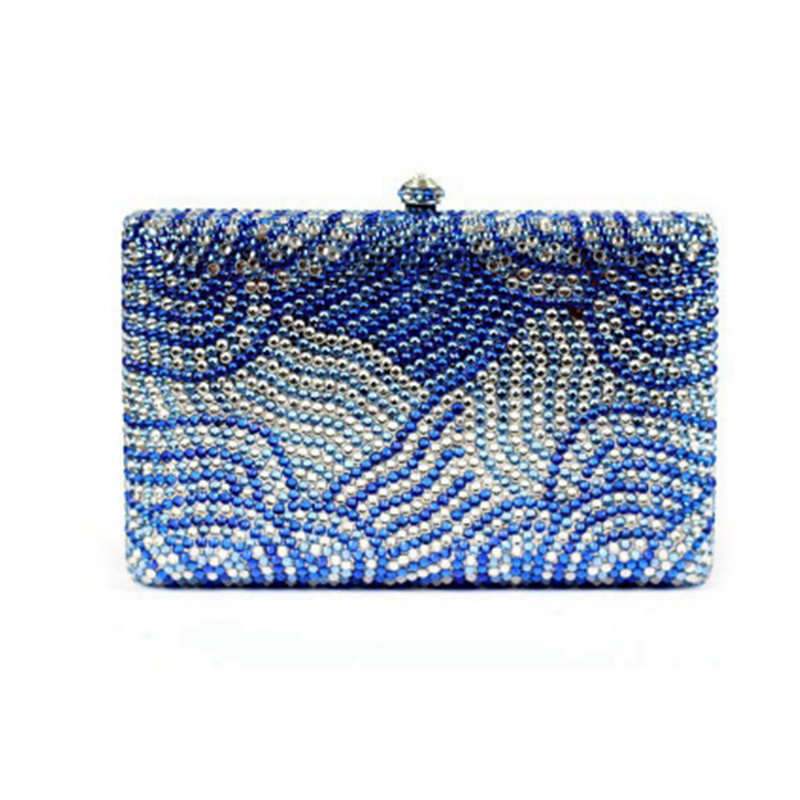 Ladies Clutch Evening Bags Womens blue Crystal Handbag Wedding Diamond Clutches night Purse Rhinestones crossbody messenger bagLadies Clutch Evening Bags Womens blue Crystal Handbag Wedding Diamond Clutches night Purse Rhinestones crossbody messenger bag