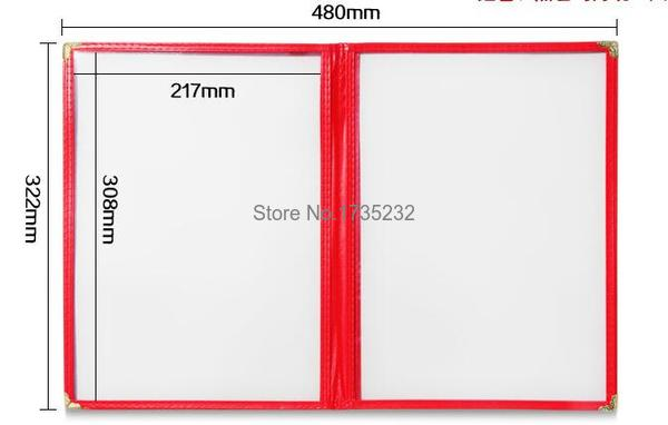 Advertising photo Album A4 6 pages PVC Recipe frame book Restaurant ...