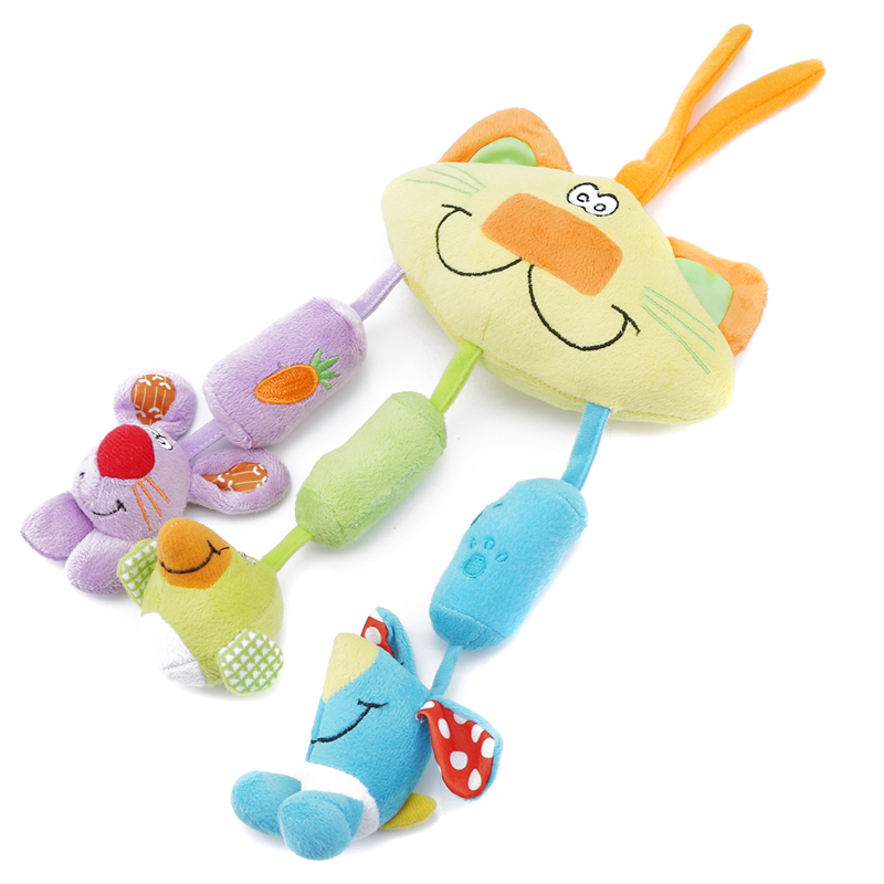 Leuke Bed Auto Opknoping Rammelaar Speelgoed Kat Windgong Speelgoed Zachte Pluche Klein Dier Speelgoed Cadeau Voor Kinderen Up-To-Date Styling
