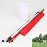 Profesjonalne Golfowe Golf Szkolenia Pomoce Flagstick Podwórku Praktyka Golf Hole Słup Filiżanka Flaga Kij Oddanie Yard Ogród Szkolenia