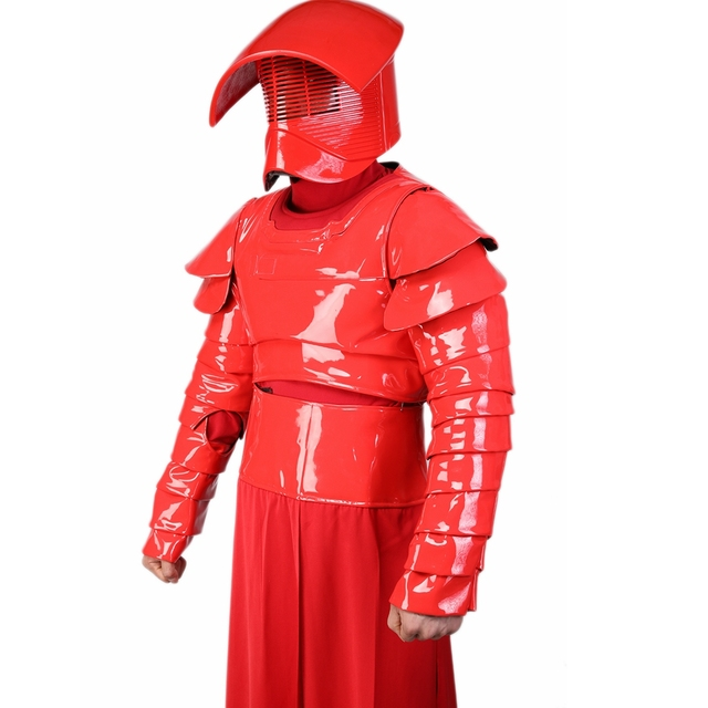 X-COSTUME Star Wars Episode VIII: The Last Jedi Movie Elite Praetorian Guard Suit Outfit PU Leather & Terylene Cosplay Constumes 1
