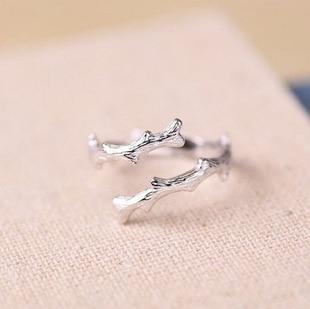 2f78f2ee4f4b 925 ramas de árbol de la plata esterlina anillo de apertura para las mujeres  compromiso anillo de la esterlina-plata-joyería El envío libre