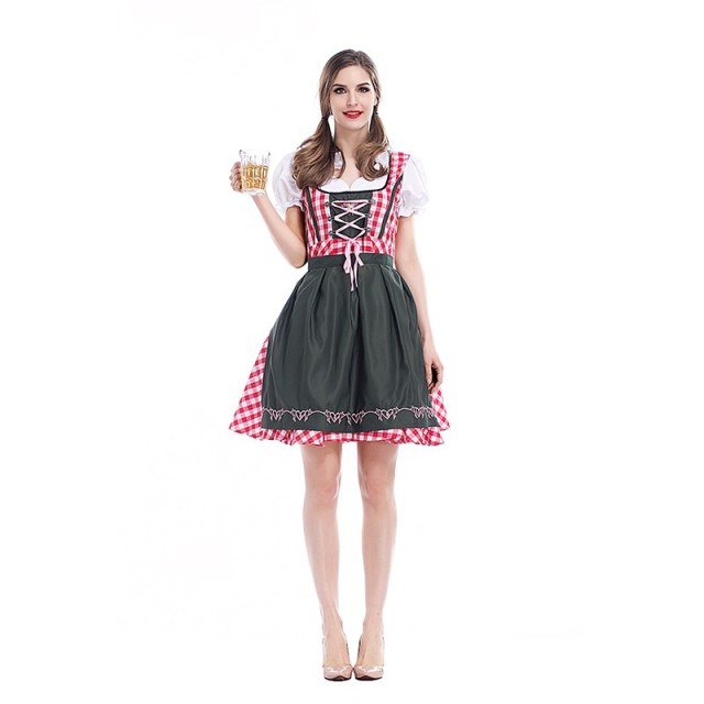 e6dc9b3471e6 Women Ladies Oktoberfest Costumes Beer Maid Authentic German Festive Party  Dance Club Bar Waiter Bavarian Dirndl