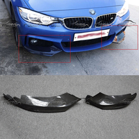 Carbon Fiber Front Lip Can Splitter Flaps for BMW 4 Series F32 F33 435i M Sport Coupe & Convertible 2 Door 2014 2016 car styling