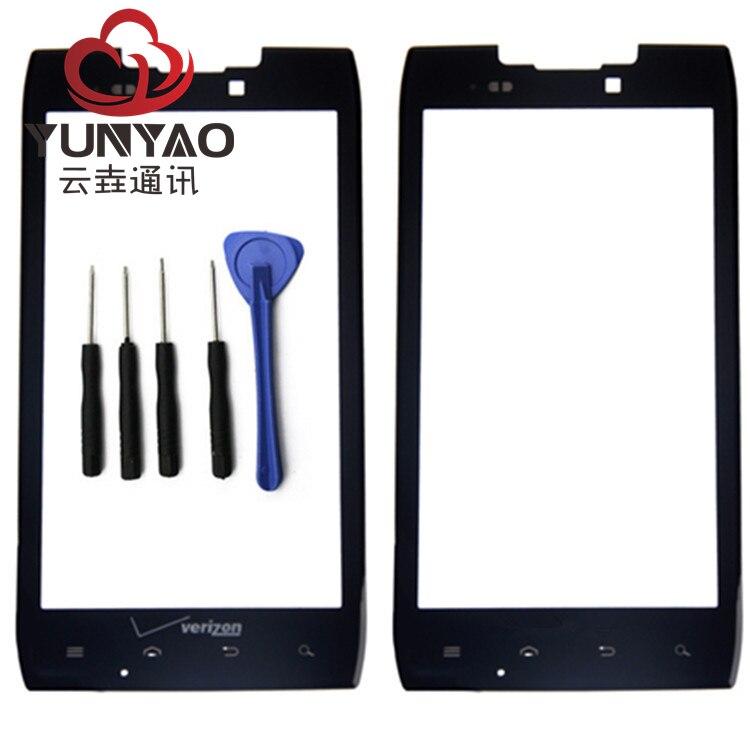New Outer LCD Avant Écran Lentille En Verre Couverture Pièces De Rechange Pour Motorola XT912 XT910 Écran Tactile