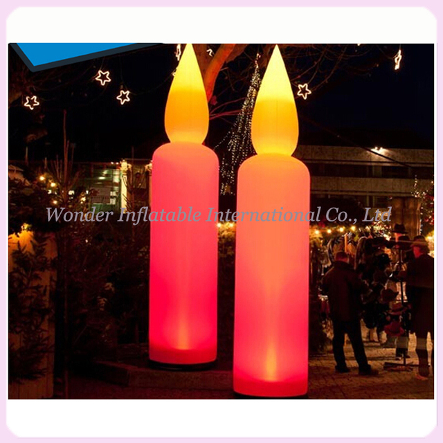 Attractive inflatable lighting candle candle shape inflatable lighting party event wedding decoration