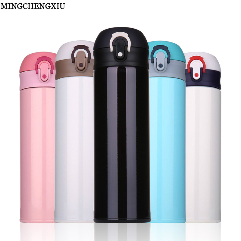500ml Mug Vacuum Stainless Steel Coffee Cups Men Women Cups Thermos Bottle Mugs Insulation termos Cup