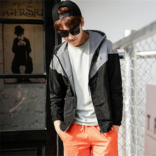 Gersri Autumn winter double tide brand reflective windbreaker jacket couple luminous class clothing male student