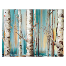 100% Hand Painted Modern Trees Woods Art Painting On Canvas Wall Adornment Pictures For Living Room Home Decor
