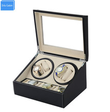 DHL send 4+6 Automatic watch winder 4 box slient motor box for watches mechanism cases with drawer storage display watches