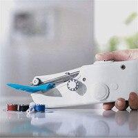 Новый мини портативный бытовой ручной стежка шить Электрический беспроводной ткани ручная швейная машинка