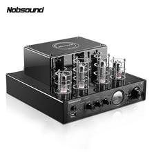 Nobsound MS-10D HiFi 2.0 Casa Tubo De Entrada do Amplificador De Áudio Bluetooth USB/BT/AUX Amplificador 25 W + 25 W amp 6N1 6P1*2 + * 2 AC220V