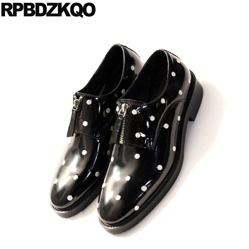 Más Baile Club Goma Fiesta Black Cuero Patent Real Nuevo Alta Tamaño Leather Clásico Hombres Genuino Diseñador Lujo Los Casuales De black Oxfords Zapatos Negro Calidad wqwOzA8x
