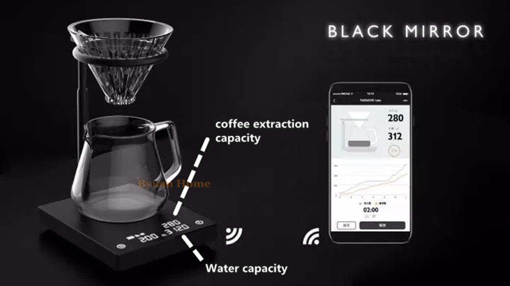 New touch screen sensing intelligence scale drip coffee pot coffee maker set drip coffee maker decanter