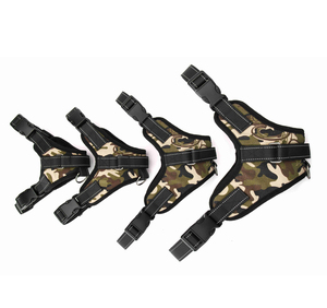 Image 5 - Nylon Heavy Duty Dog Pet Harness Collar Adjustable Padded Extra Big Large Medium Small Dog Harnesses vest Husky Dogs Supplies