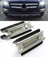 Стайлинга автомобилей LED дневного света для Mercedes Benz GL GL350 GL400 GL450 gl500 X164 2006 2009 LED DRL с быстрая доставка