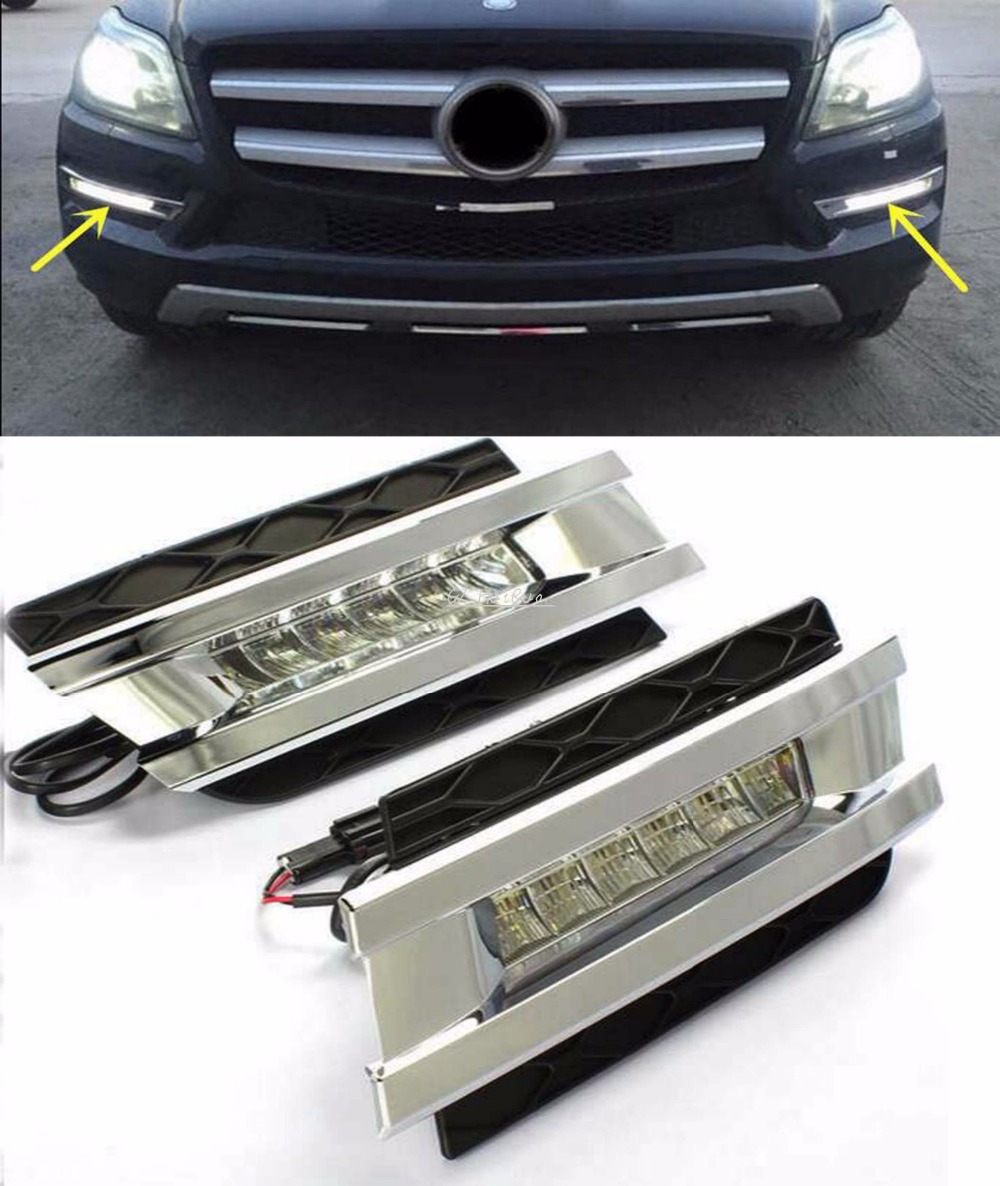 CAR STYLING led daytime light for mercedes benz gl gl350 gl400 gl450 gl500 x164 2006-2009 led drl with Fast delivery