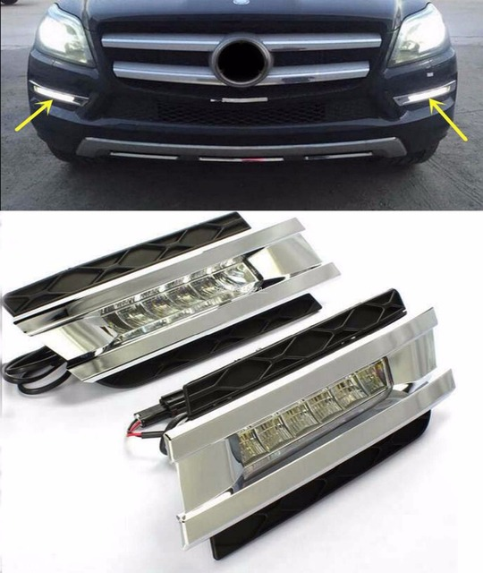 Car Styling Led Daytime Light For Mercedes Benz Gl Gl350 Gl400 Gl450 Gl500 X164 2006