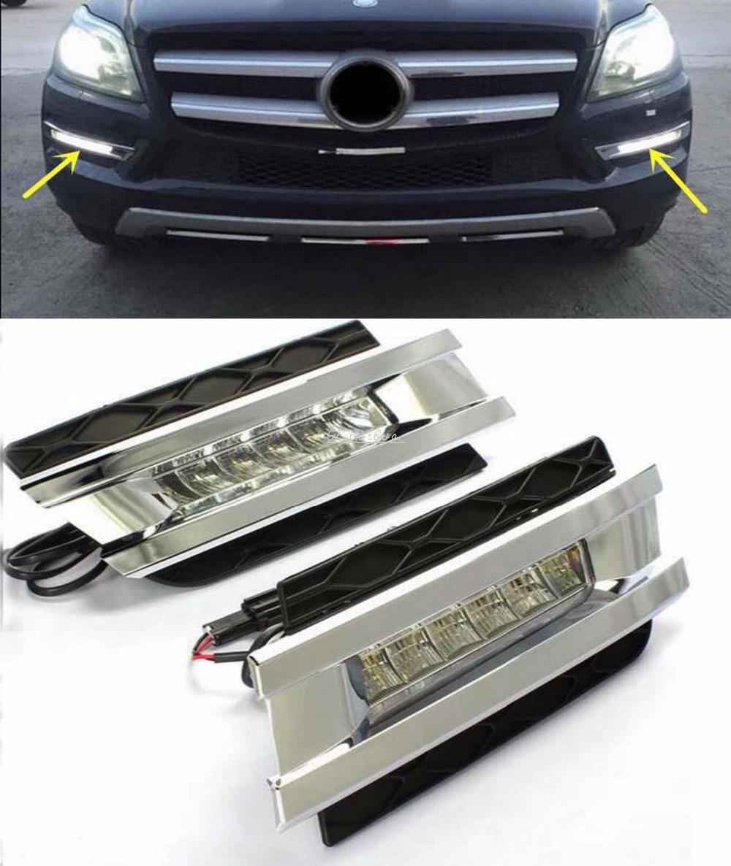 CAR STYLING led jour la lumière pour mercedes benz gl gl350 gl400 gl450 gl500 x164 2006-2009 led drl avec livraison rapide