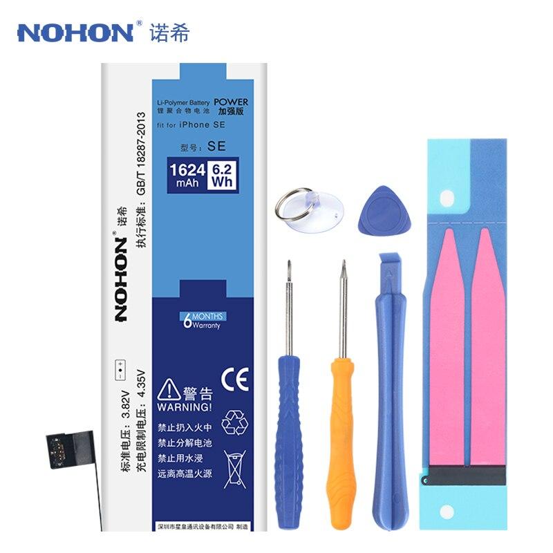 NOHON Batterie Pour Apple iPhone SE D'origine Remplacement Bateria Mobile Téléphone Li-ion Batteries 1624 mah Livraison Outils Emballage de Détail