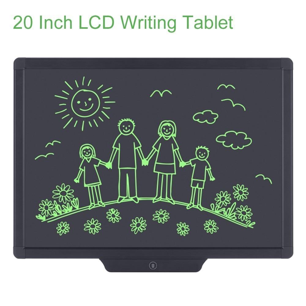 Howshow 20 pulgadas LCD escritura tableta saludable escritura tablero de dibujo con Stylus Pen gráfico Digital Touch Pad para niños regalo