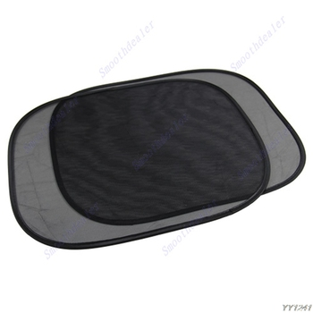 car styling 2PCS NEW Car Window Sunshade Sun Shade Visor Side Mesh Cover Shield Sunscreen accessories image