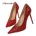 plardin Basic Pumps Women Wedding Pumps Victoria Shoes Woman 2017 Shine Leather  Women's Bridal High Heels