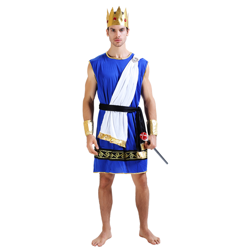 Roman Senator Mens Adult Greek Roman Tunic Halloween Costume-Std