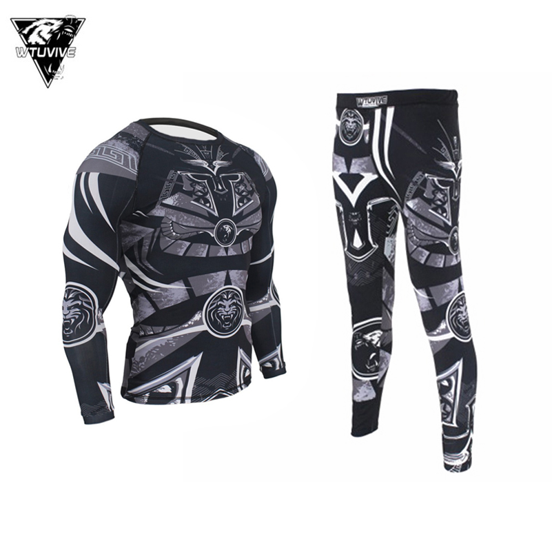 Elastic Boxing MMA Samurai Armor Breathable Rashguard Fitness Fight Sweatshirt Compression Tee Muay Thai Sanda Boxing Jerseys