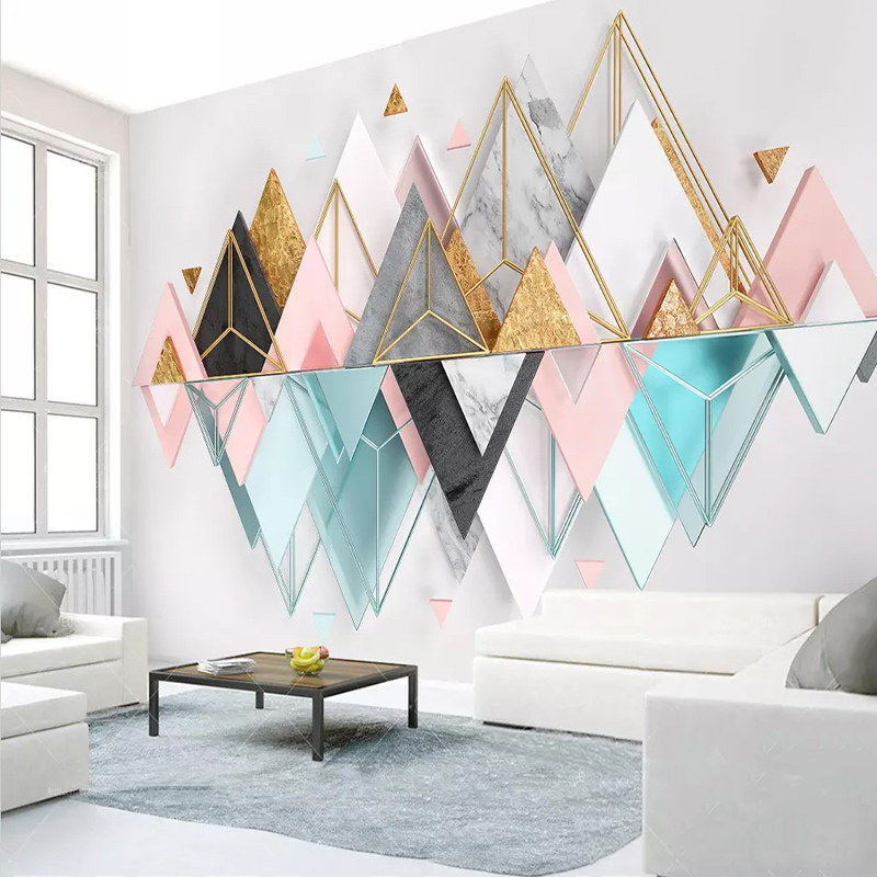 Photo Wallpaper 3D Stereo Geometric Pattern Murals Living Room Bedroom Study Modern Abstract Art Wall Paper For Walls Home Decor