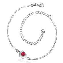 Браслет посеребренные браслет серебро ювелирные изделия браслет 20 + 10 СМ цепи для современных женщин ювелирные изделия бесплатная доставка tyug LA034-A