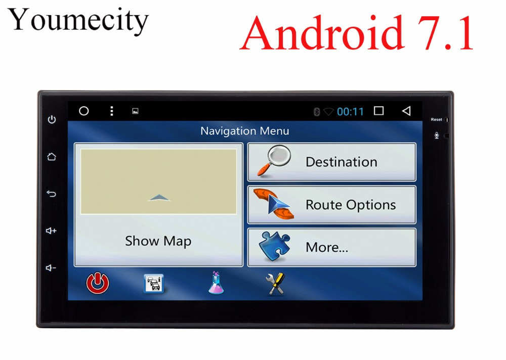 Youmecity Octa core 2 din 7 inch android 7.1 Car DVD Multimedia Player juke qashqai almera x trail note X-TRAIL for Nissan GPS