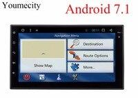 Youmecity Octa lõi 2 din 7 inch android 7.1 Car DVD Multimedia Player juke qashqai almera x trail lưu ý X-TRAIL cho Nissan GPS