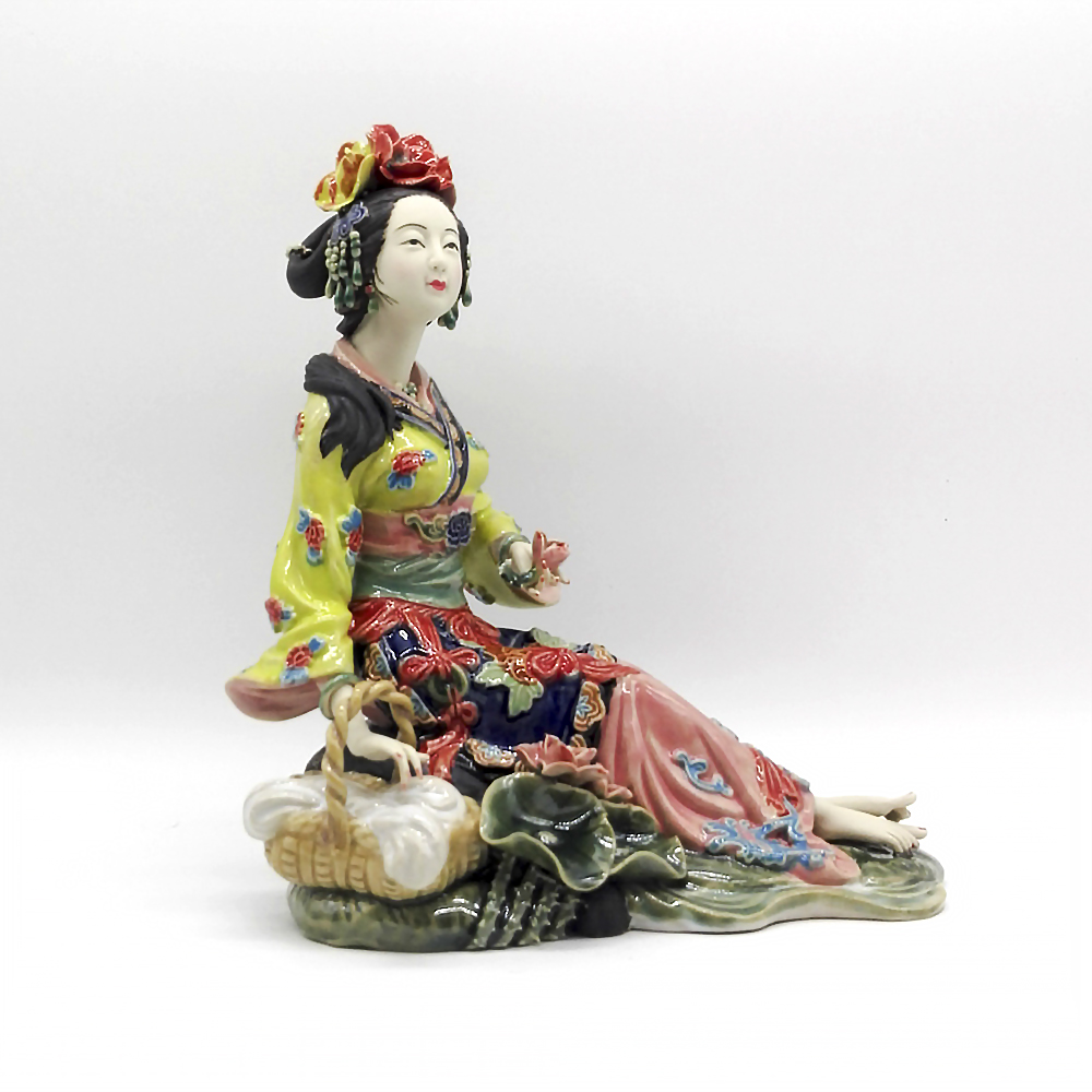 Lady Character Boutique Ceramic Ornaments Decorations Crafts Beauty Of Classical Figures Chinese Statue Figurine Art Collection