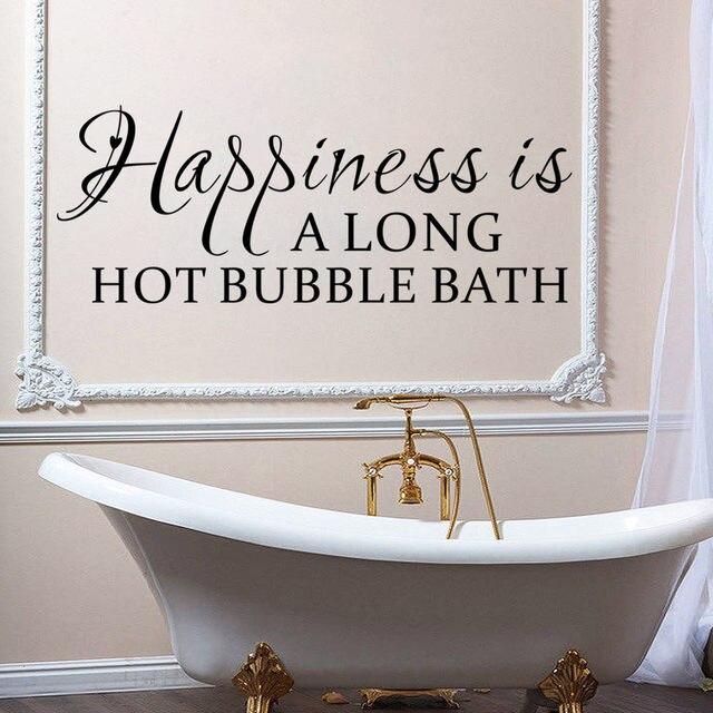 Bath Quotes Gorgeous Online Shop Large Size Happiness Is Along Hot Bubble Bath Quotes