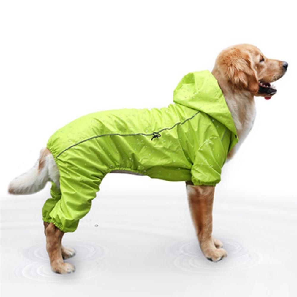 Medium And Large Dog Waterproof Big Dog Raincoat Pet Golden Retriever Four-foot Raincoat