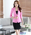 Formal OL Styles Professional Business Work Suits With Jackets And Mini Skirt Ladies Office Blazers Beauty Salon Outfits