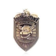 Game Five Nights at Freddys Pins Brooches FNAF FREDDY FAZBEAR Badge Brooch for Women Men Kids Choker Jewelry Gift