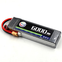 MOS 11 1v 6000mah 25c Lipo Battery For Rc Airplane Free Shipping