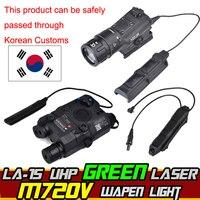 Airsoft элемент M720V Охота фонарик ИК PEQ 15 зеленый лазер двойной Управление переключатель Тактический указатель Armes Softair оружие света
