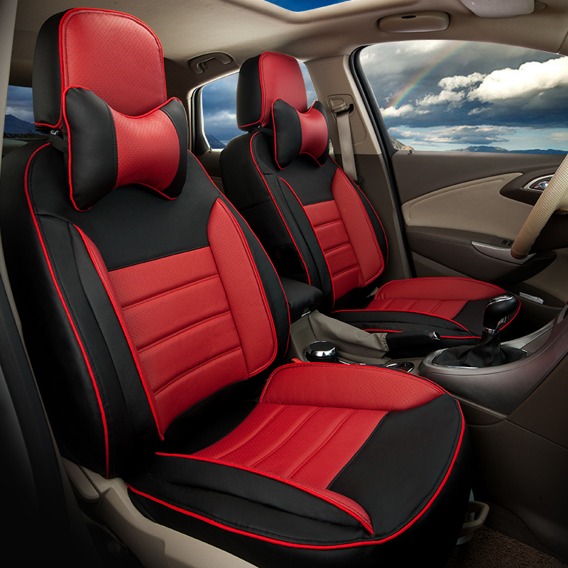 auto seat protector for hyundai grand santafe car seat cover set deluxe leatherette seat covers for - Car Seat Cushions