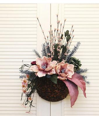 Rural household simulation flowers hanging basket. Floral suit