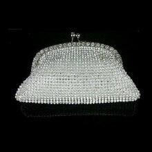 20661 silber Crystal Lady Fashion Brautpartei kupplung geldbörse handtasche IN KOSTENLOSER VERSAND