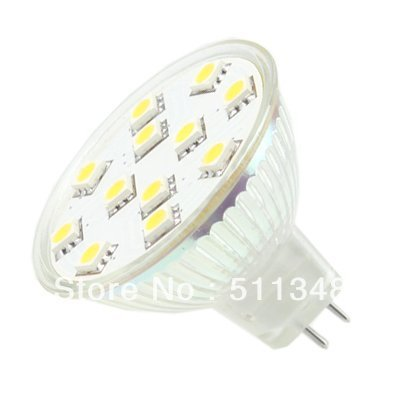 EMS/DHL free shipping hot selling 100pcs LED Lighting MR16 cool White 5050 SMD 12 LED Light Bulb lamp 12V