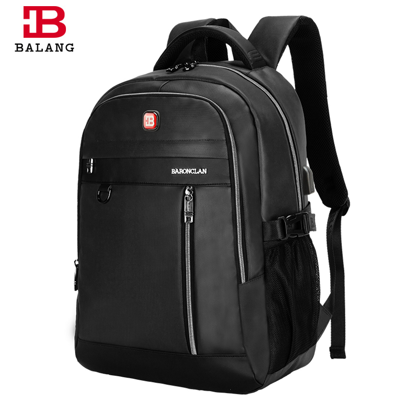 BALANG Brand Designer 2018 New Business Backpack for 15.6 Inch Laptop with USB Port Daily School Backpack Travel Luggage Bags balang brand designer 2018 new business backpack for 15 6 inch laptop with usb port daily school backpack travel luggage bags