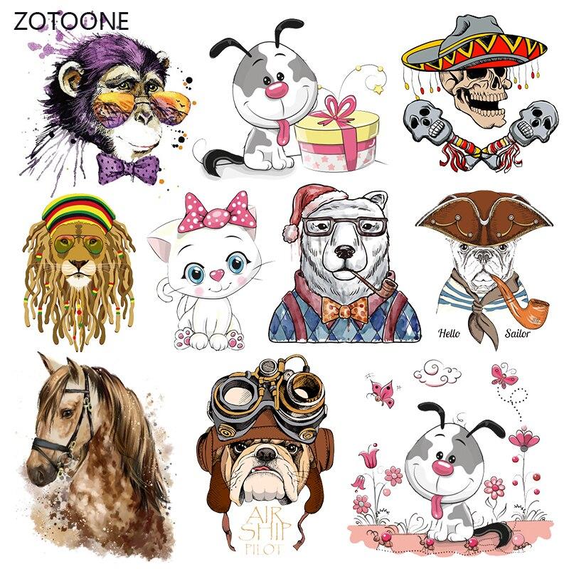 Полоски ZOTOONE Horse, утюжок для перекачки одежды, сделай сам, патчи для собак, теплопередача для одежды для футболок, наклеек для девочек