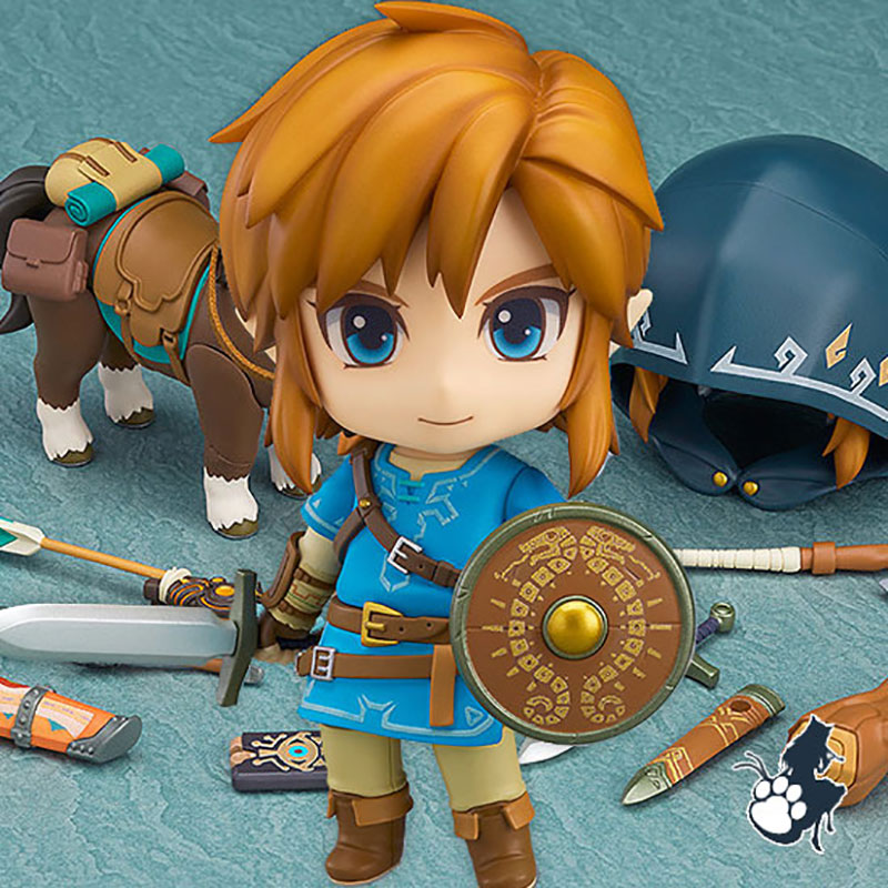 Good Smile Nendoroid Link Zelda Figure Breath of the Wild Ver DX Edition Deluxe Version Action Figure in Costume Props from Novelty Special Use