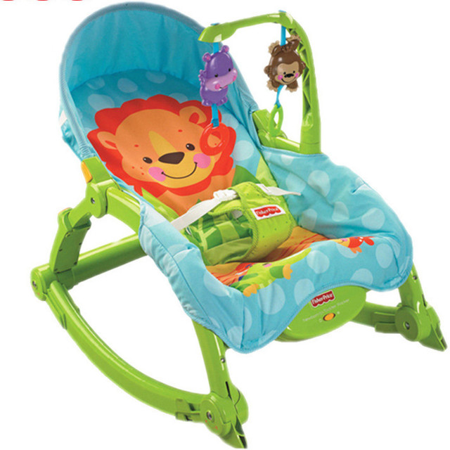 Free Shipping Baby Rocking Chair Baby Bouncers Adjustable Chaise Portable Electric Appease Chair Vibration Swing Music