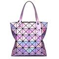 Mujeres totes señora geometría holográfica láser brillante diamante celosía bolso de perlas de lentejuelas fold over holograma bolsos de marca famosa